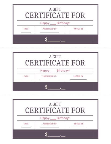 Free Gift Card Forms Template by 2018 Gift Certificate Form Fillable Printable Pdf