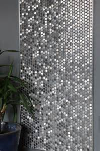 Perth penny rounds brushed stainless steel contemporary entry