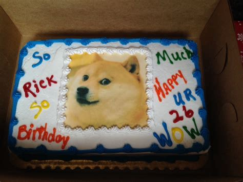 Meme Birthday Cake - birthday dog meme cake ideas and designs
