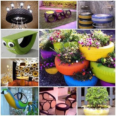 how to diy old tire garden ideas recycled backyard cool diy idea recycle old tire garden pots containers
