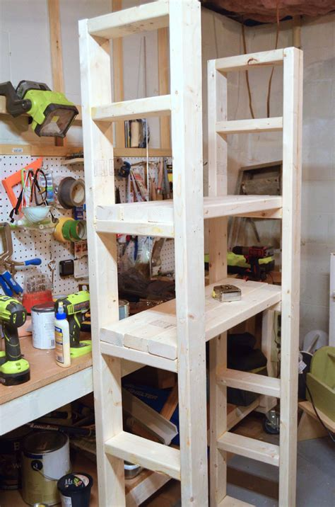 with shelves paint storage shelf made with 2x4s create and babble