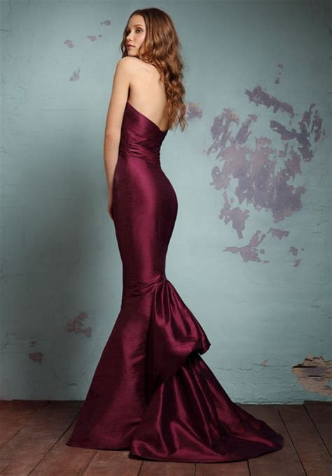 Wine Colored by Wine Colored Bridesmaid Dresses