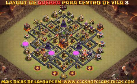layout cv8 guerra layouts de centro de vila 8 para guerra clash of clans dicas