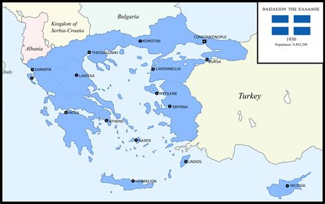 map of greater greater greece 1930 imaginarymaps