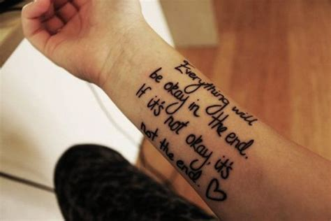 wrist tattoo sayings wrists quotes quotesgram