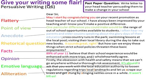 language writing tips miss s gcse media