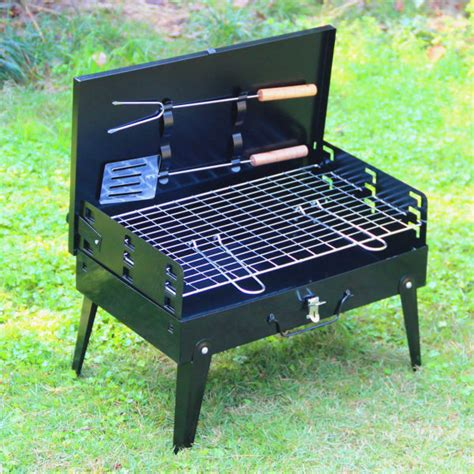 1 pcs hza 14 outdoor grill grill suitcase portable