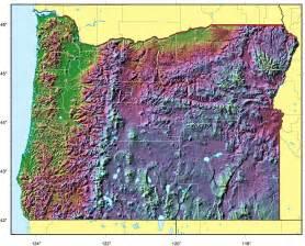 oregon relief map mapsof net