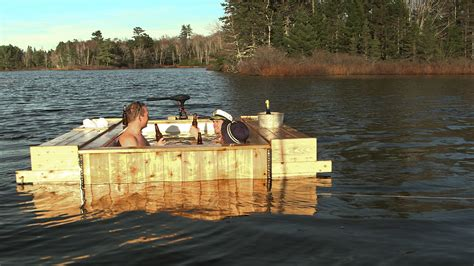 floating hot tub amphibious hot tub brojects