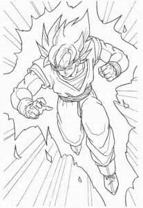 dragon ball goku super saiyan coloring pages