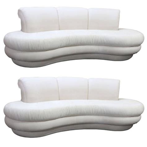 single couch for sale pair or single vintage adrian pearsall kidney cloud curved