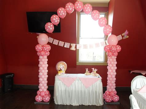 Pink And Black Polka Dot Baby Shower Decorations by Pink Black White Decoration Ideas Polka Dot