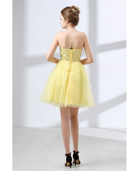 beaded homecoming dresses cheap cocktail yellow prom dress beaded for homecoming