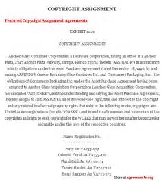 copyright contract template free copyright assignment agreement sle copyright