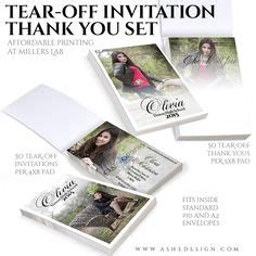 Senior Photoshop Templates On Pinterest Ad Design Yearbooks And Photo Cards 4x8 Invitation Template