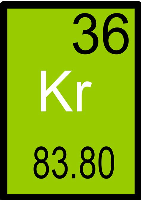 Kr Periodic Table by Image Gallery Krypton Periodic Table