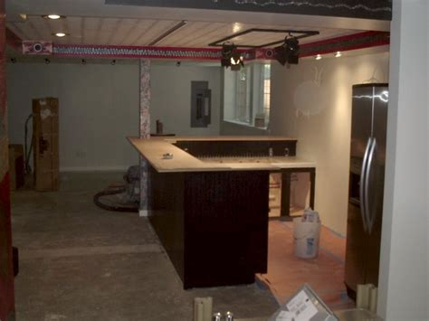 Building A Basement Bar Remodeled Basement Bar In St Joseph Michigan 49085