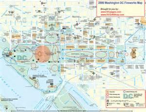Washington Dc Map by Washington Dc Fireworks Map