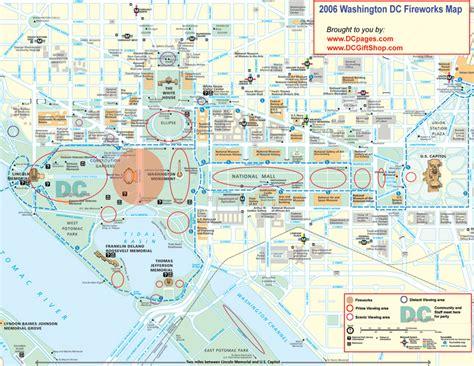 washington dc map washington dc fireworks map