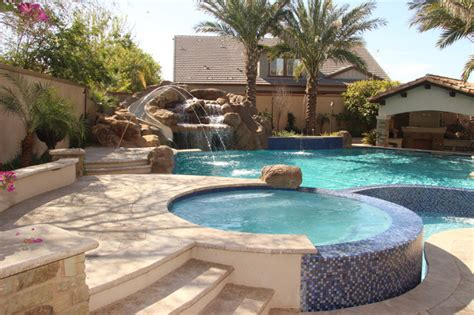 backyard oasis pools backyard oasis pool spa swim up bar grotto slides