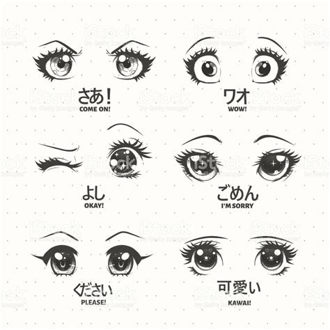 imagenes de ojos kawai juego de anime manga kawaii ojos con diferentes