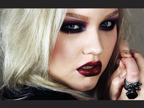 youtube tutorial nikki colored goth makeup look youtube