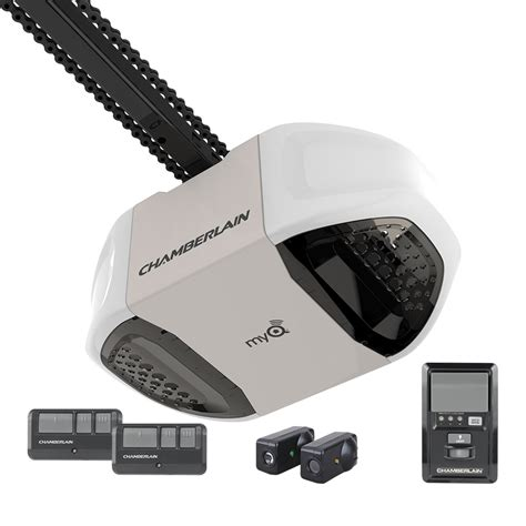 garage door drive shop chamberlain 0 75 hp chain drive garage door opener at