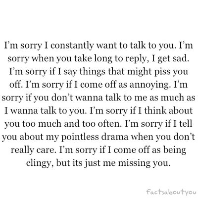 Apology Letter To Boyfriend For Being Insecure I M Sorry That I Think You Today Can I Keep You