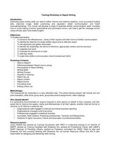 Training Report Template best photos of training workshop template workshop agenda template