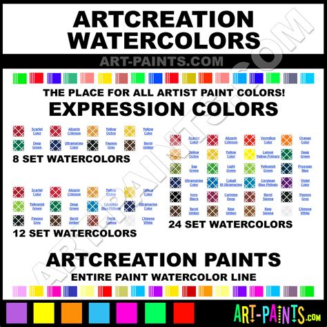 artcreation expression 24 set watercolor paint colors artcreation expression 24 set paint