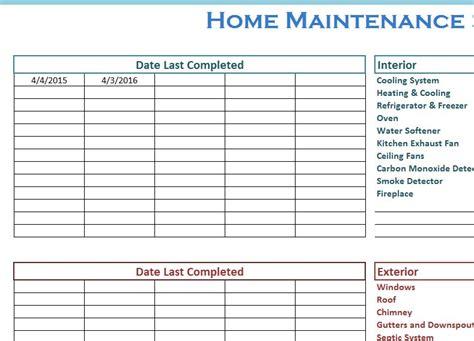 Maintenance Schedule home maintenance schedule