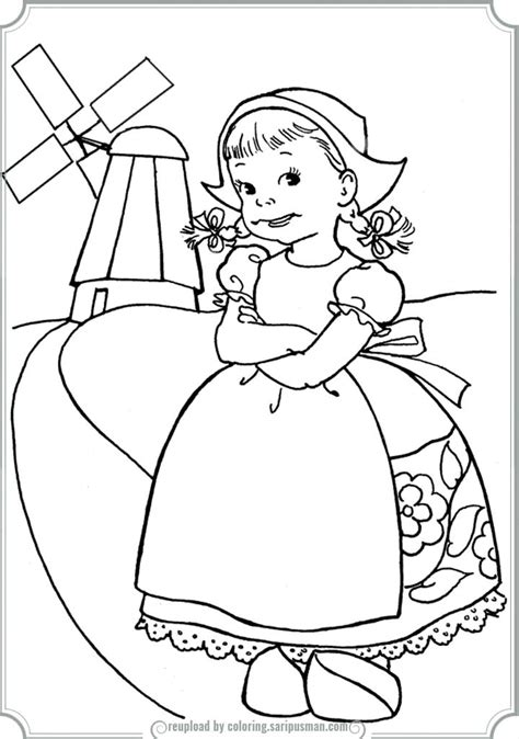 coloring pages boy girl dutch boy and girl coloring page printable coloring pages