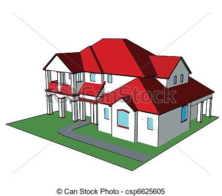 3d house vector technical draw 3d house technical draw