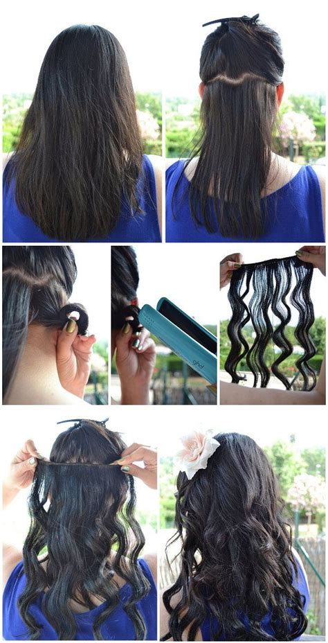 how to use straightner to get beach waves of shoulder length hair diy beauty beach waves with straightener beach curls