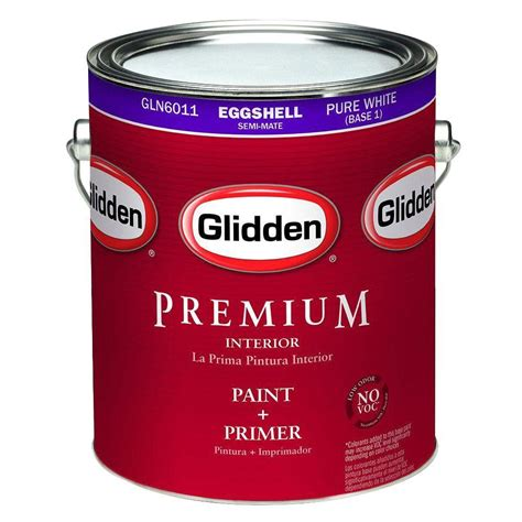 glidden premium 1 gal eggshell interior paint gln6012 01 the home depot