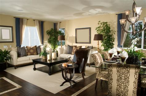 Dark Hardwood Flooring And Dark Leather High Back Chair Matching Dining And Living Room Furniture