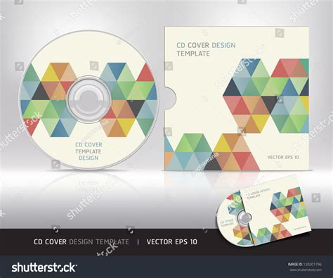 cd cover design template abstract background stock vector