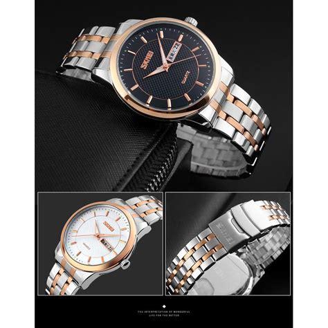 Komponen Jam Tangan Analog skmei jam tangan analog premium pria 9119 black jakartanotebook