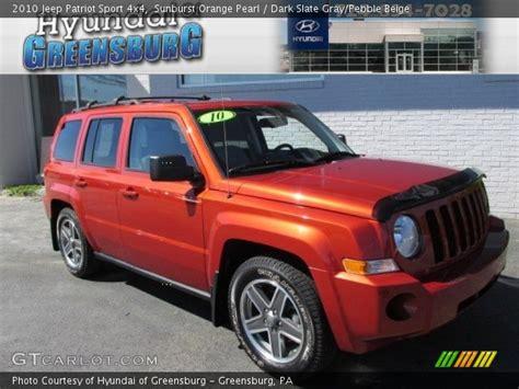 orange jeep patriot sunburst orange pearl 2010 jeep patriot sport 4x4