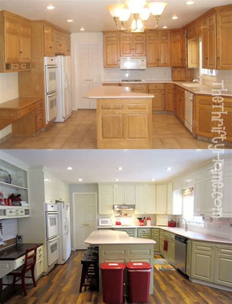 remodeled kitchens with painted cabinets the thrifty home kitchen remodel painting cabinets