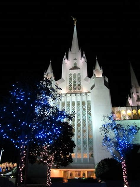 christmas lights add to the overall beauty of the lds