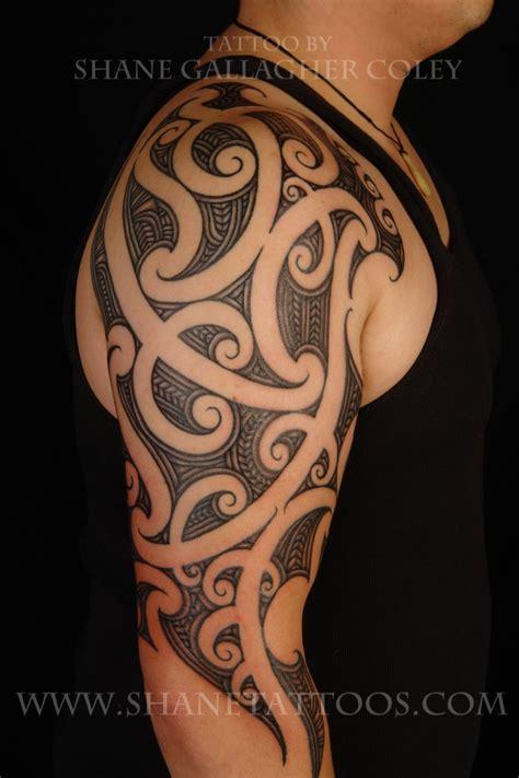 polynesian quarter sleeve tattoo designs half sleeve polynesian tattoo design for men tattoos