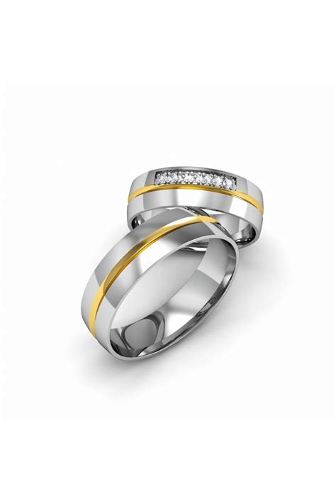 Wedding Rings Yellow And White Gold by Modern Yellow White Gold Wedding Ring