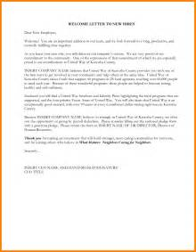 New Employee Welcome Letter Template 12 Welcome Letter To New Employee Monthly Budget Forms
