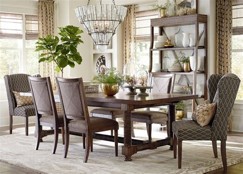 Bassett Dining Room Furniture Compass 94 Quot Trestle Dining Table By Bassett Furniture Contemporary Dining Room By Bassett