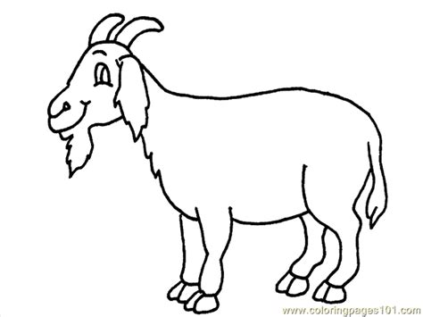 cartoon goat coloring page goat coloring pages getcoloringpages com