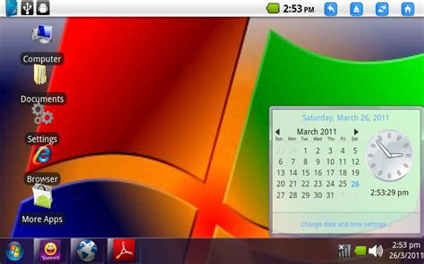 windows 7 for android interfata de windows 7 pe android androidgeek ro