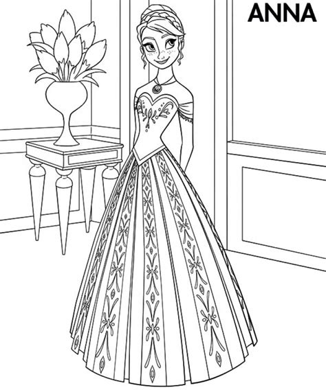 princess coloring pages frozen anna get this disney frozen coloring pages princess anna 53790
