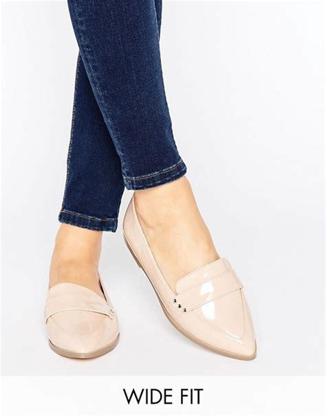 wide fit flat shoes asos asos marika wide fit flat shoes