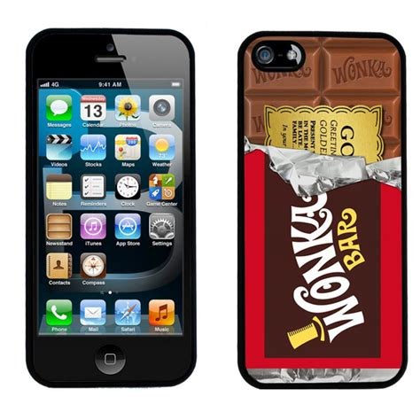Casing Iphone 5 5s Willy Wonka Golden Ticket Custom willy wonka golden ticket chocolate bar iphone 5